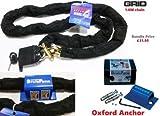 Cadena y candado Saker 180cm + Oxford Sold Secure Kit de seguridad de anclaje en el suelo