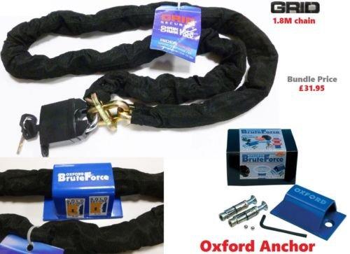 Würgfalke &Vorhängeschloss Kette 180 cm Oxford Sold Secure Bodenanker Security Kit