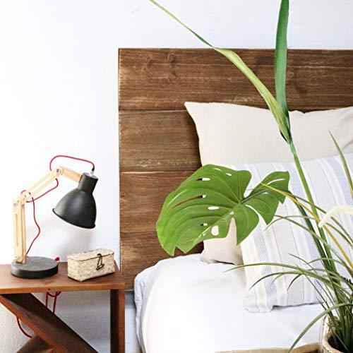 Hannun - Tête de lit Horizontale Nala, 160x100 cm (pour Lits de 150 cm) | Bois Massif - Produit Artisanal et écologique - Couleur Noyer Antique