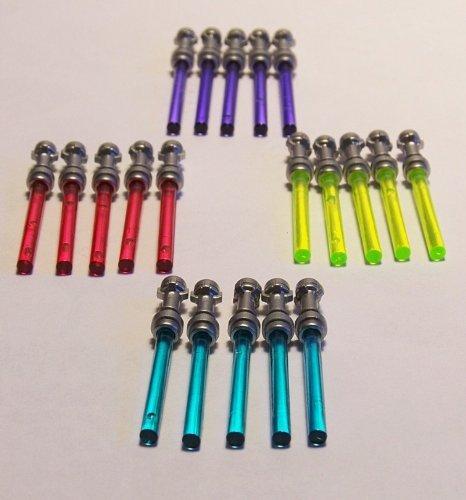 LEGO 20 Laserschwerter / Lichtschwerter je 5 in rot, blau, lila und neon grün