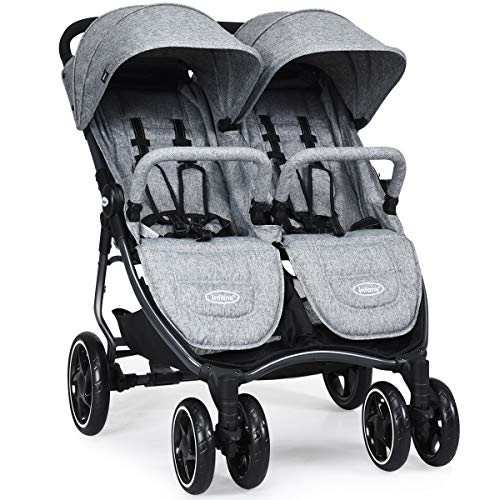 Why Choose INFANS Double Stroller, Lightweight & Easy Folding Duo Baby Stroller with Side by Side Tw...