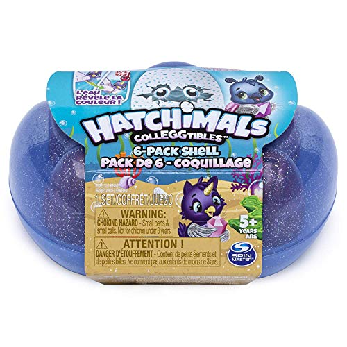 Hatchimals - CollEGGtibles うまれて! ウーモ ミニ 6個セット シーズン 5 シェル キャリングケース入り (ブルー) [並行輸入品]の拡大画像
