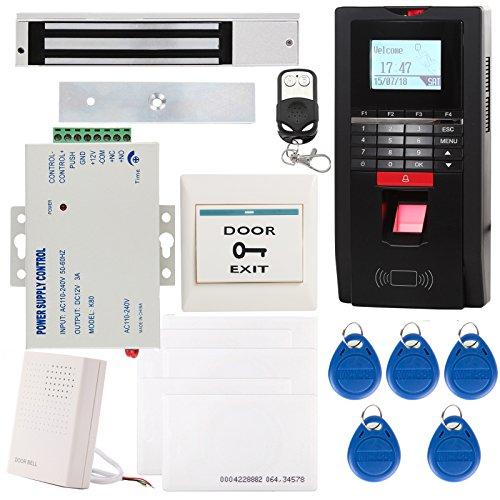 UHPPOTE Vollständiger Kompletter Biometrischer Fingerabdruck EM-ID Access Control System TCP / IP Zeiterfassung Kit Enthalten 280KG 600Lbs Magnetver Schluss