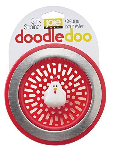 MSC International Joie Doodle Doo Kitchen Sink Strainer Basket, Rooster, 4.5-inch, Red