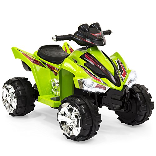 Best Choice Products Kids 12V Electric 4-Wheeler Ride On w/ LED Lights, Forward and Reverse,...