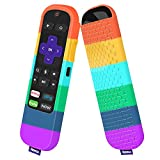 Case for TCL Roku TV Steaming Stick 3600R Remote,Silicone Cover Roku Voice/Express/Premiere Remote Controller Skin Protective Universal Replacement Sleeve Protector(Rainbow)