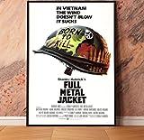 ARTMERLOD Leinwand Poster Full Metal Jacket War Filmplakate