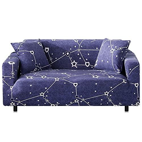 WXQY Funda de sofá elástica con Estampado Floral,Funda de sofá Antideslizante para la decoración del hogar,Sala de Estar,Funda de sofá de Esquina Completamente Envuelta A7 1 Plaza