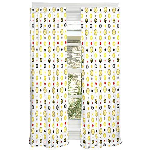 Franco Conjunto de painéis de cortina para crianças, 208 x 160 cm, Pokemon