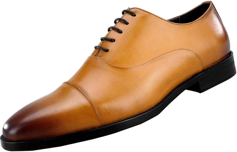 DHFUD Chaussures pour Hommes Angleterre Fait à La Main Chaussures Première Couche en Cuir Costume Hommes Chaussures en Cuir Européen Chaussures