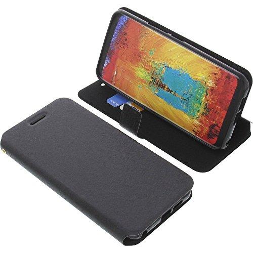 foto-kontor Tasche für Leagoo S8 Pro Book Style schwarz Schutz Hülle Buch