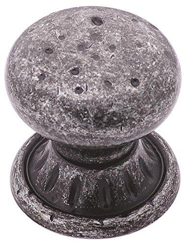 Amerock BP4485WID Ambrosia Euro Stone Knob, Wrought Iron Dark