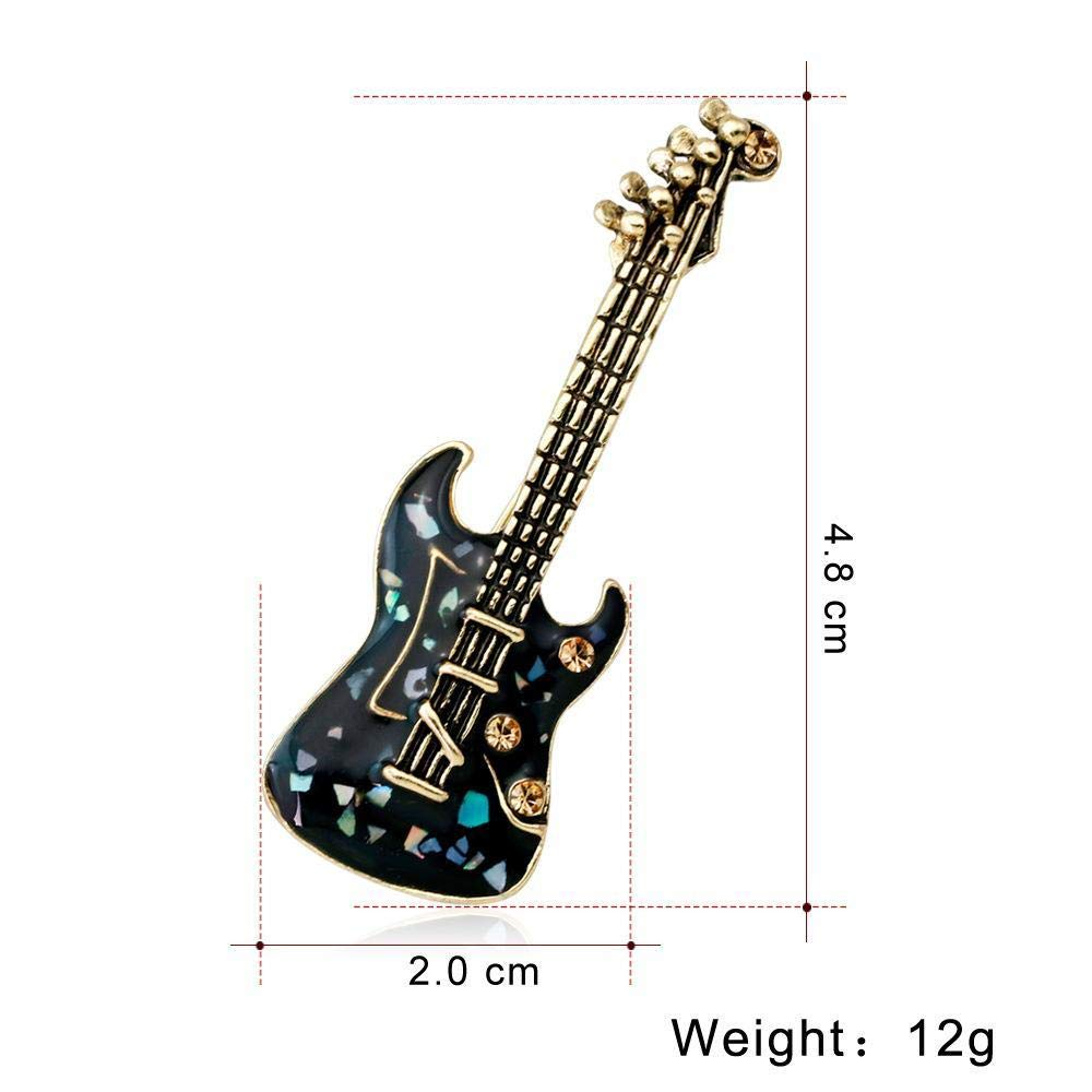 Yarmy Broches para Ropa Mujer Vintage Unisex Guitarra Broche ...