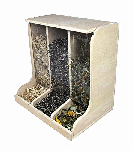 Elmato 10474 Futterbar 3-Fach Holz/Glas