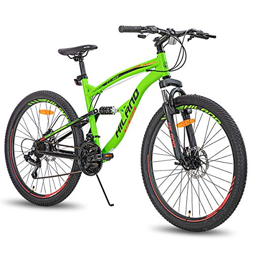 Hiland 26 Inch Mountain Bike for Men 21-Speed MTB Bicycle 18 Inch Dual-Suspension Urban Commuter City Bicycle Green