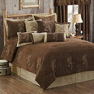 Buckmark Suede 4 Pc QUEEN Comforter Set (Comforter, 2 Shams, 1 Bedskirt) SAVE BIG ON BUNDLING!