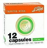 Le Parfait - Boite de 12 capsules Familia Wiss - 100mm - Vert