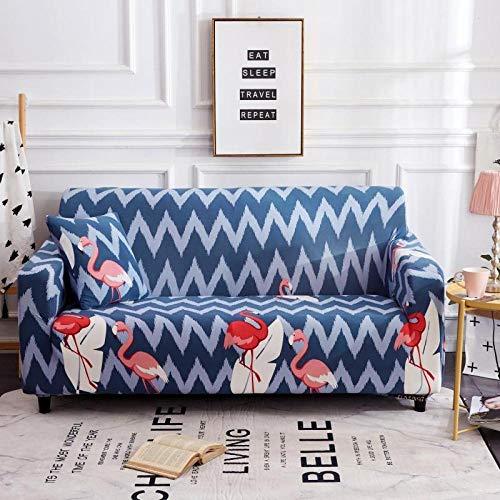 1 protector elástico para muebles,Funda de sofá con patrón impreso, funda de sofá elástica antideslizante, cojín de sofá universal para todas las estaciones, funda protectora de muebles de sala de es