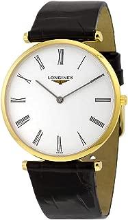 Longines La Grande Classique White Dial Black Leather Mens Watch L47552112
