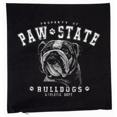 Bulldog chiens housse de coussin 40 x 40 cm (noir)