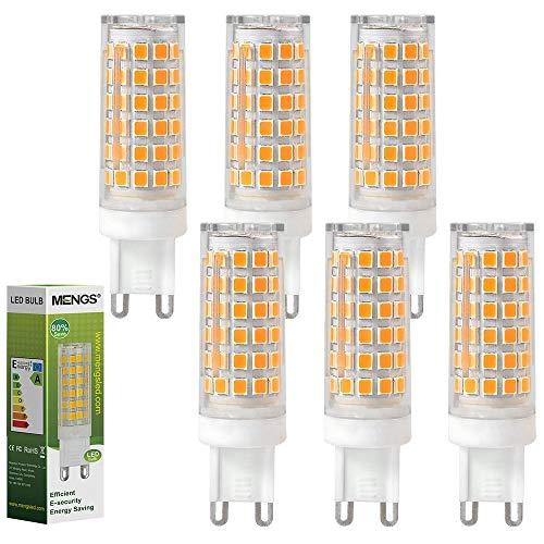 MENGS 6 pezzi Lampadina a LED G9 12W (Equivalente a 95W) Lampada a LED Blanco Caldo 3000K, AC 220-240V, 720LM Luce a LED