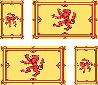 Akachafactory 4 x dekal klistermärke bil, motorcykel, resväska, pc, smartphone, flagga Skottland royal eco