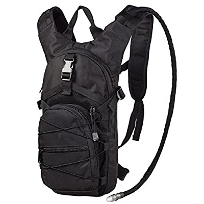"G4Free Hydration Pack Sports Runner Hydration Backpack with Bladder (19.68""x 8.26""x 4.72"")(Black)"