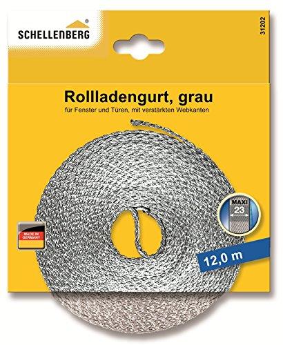 Schellenberg 31202 Rollladengurt Maxi 23 mm Breit 12 m Lang, Rolladengurt einfach austauschen