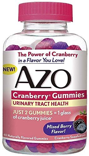 AZO Cranberry Gummies Urinary Tract Health, Mixed Berry 40 ea (Pack of 3)