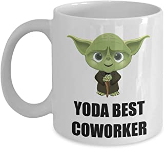 Yoda Best Coworker Coffee Mug Cup Funny Gifts Ideas For Departing Employee Christmas Party Appreciation Office Staff Worker Coworker