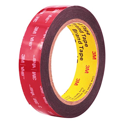 Double Sided Tape 3M VHB Mounting Tape 1 Inch x 18 Feet Length Heavy Duty Waterproof Black Foam Tape No Residue for Home Office Automotive Decorations and LED Strip Lights (3M492925)