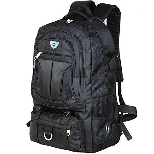 Rugzak met een grote capaciteit van 70 liter, voor buiten reizen, voor mannen en vrouwen, mountainbiking, reizen, rugzak Yku, schooltassen, blue (zwart) - 666-888-999