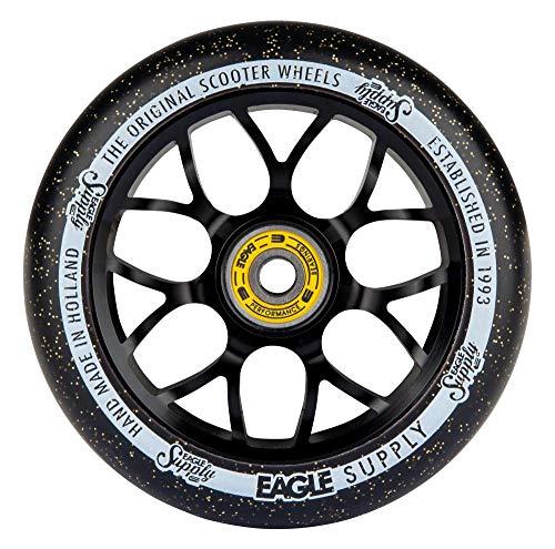 Eagle Supply X6 Core - Rueda para patinete (110 mm), color negro y dorado