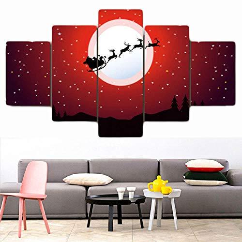 Kunstdruk Op Canvas Muurkunst Voor Woonkamer Schilderij Modulair Landschap Frameloze Kerst Abstract Schilderij Thuis Wanddecoratie Canvas Schilderij Kunst Schilderij