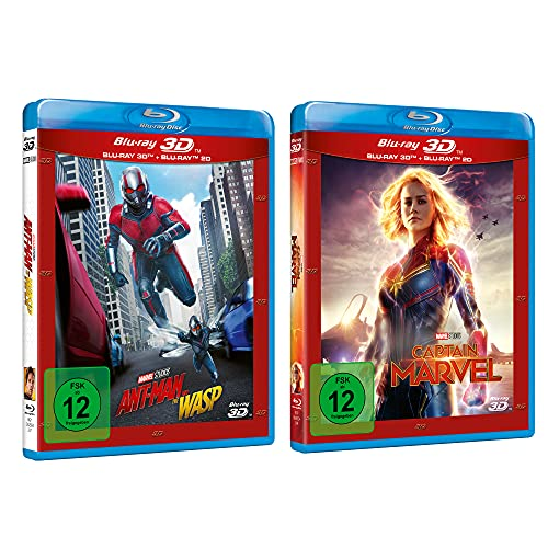 Captain Marvel + Ant-Man and the Wasp 3D Collection