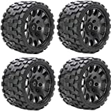 Powerhobby Scorpion Belted Monster Truck RC Tires/Wheels w 17mm Hex (4) Sport Compound FITS : Arrma Outcast Kraton Talion Notorious Fazon Speed Run …