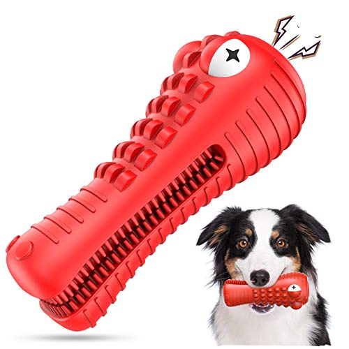 NOUGAT Squeaky Dog Chew Toys- Heavy Chewers Dog Toys- Indestructible Tough Dog Toys for Aggressive...