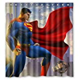 FANG2018 Super Superman Duschvorhang Badezimmer Duschvorhang langlebige Stoffzubehör kreativ mit 12 Haken 180X180CM