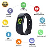 Smart Watch, Fitness Tracker with Heart Rate Monitor & Blood Pressure Monitor & IP67 Waterproof, Activity Tracker Watch with Sleep Monitor & Pedometer for Kids Women Men, Smartwatch for iOS & Android