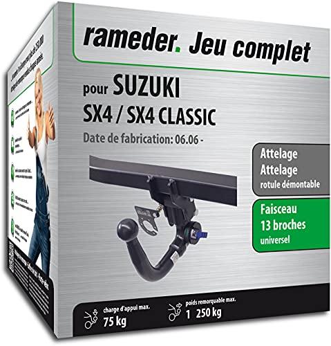 Rameder Pack, attelage rotule démontable + Faisceau 13 Broches Compatible avec Suzuki SX4 / SX4 Classic (162650-05566-1-FR)