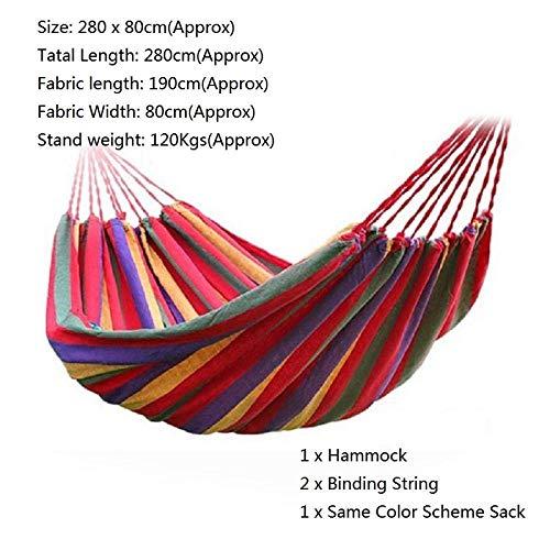 Kyman Multifuncional oscilación Portable de la Silla Hamaca Silla Colgante de la Cuerda y 2 Cojines de Aire Libre e Interior del jardín (Color : D)
