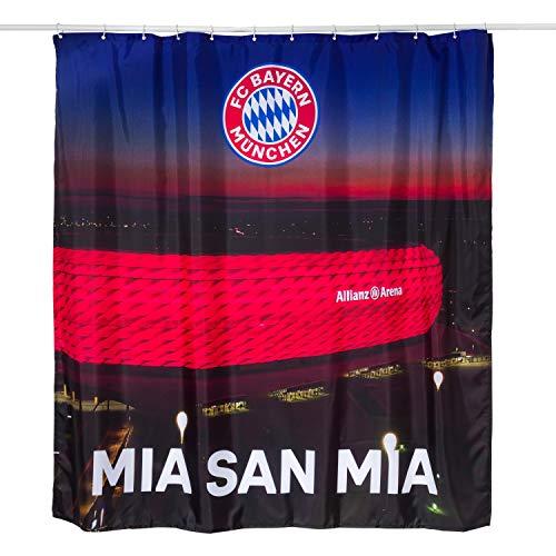 FC Bayern München Duschvorhang - Allianz Arena - Bad Vorhang FCB - Plus Lesezeichen I Love München