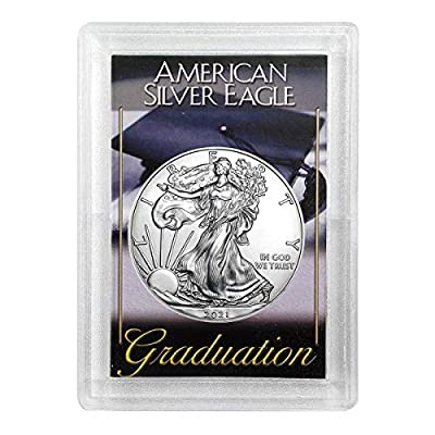 """2020 - American Silver Eagle in""""Graduation"""" Holder Dollar Uncirculated Us Mint"""