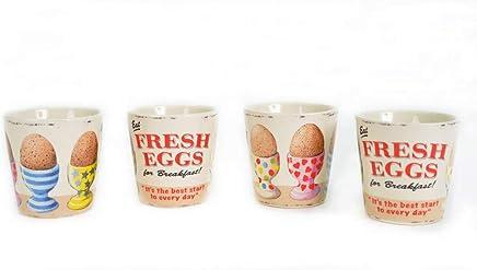 """Preisvergleich für Martin Wiscombe Eierbecher """"Fresh Eggs"""" im Retro-/Vintage-Design, 4er-Set"""