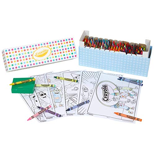 Crayola Crayon Set with Coloring Pages, Gift for Kids, 208 Crayons with Repeats of Favorite Colors