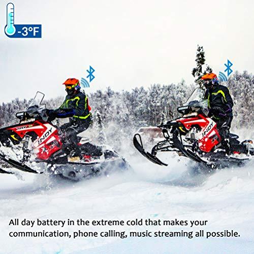 LEXIN B4FM 2X Motorrad Bluetooth Headset, Helm Intercom Geräuschreduzierung, Kommunikationssystem für Motorräder, Freisprechanlage bei Motorradfahren und Skifahren - 8