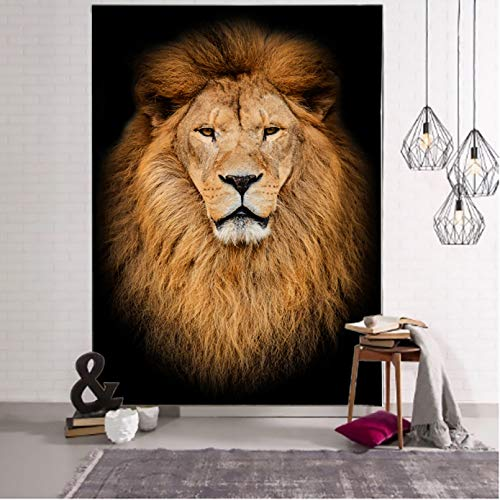 N/A Impresión 3D de tapices Animal World Tapiz León Fondo Tela Tela para Colgar Muebles para el hogar Tela Arte Colgante de Pared Regalo Artesanal de decoración del hogar de Tela Colgante