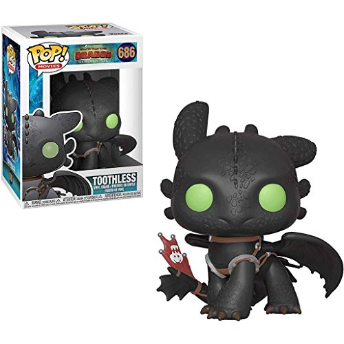 Funko Pop Movies : How to Train Your Dragon 3 - Toothless 3.75inch Vinyl Gift for Anime Fans SuperCollection