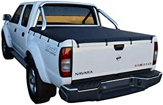 Nissan Navara D40 ST-X (Spanish Built)(2006 to 2008) Dual Cab with Factory Sports Bars Bunji Tonneau Cover
