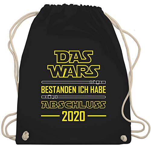 Shirtracer Abi & Abschluss - Das Wars bestanden ich habe Abschluss 2020 - Unisize - Schwarz - Geschenk - WM110 - Turnbeutel und Stoffbeutel aus Baumwolle